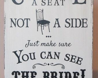 Pick A Seat A Side Etsy Uk