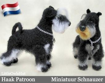 101NLY Miniatuur Schnauzer - Amigurumi Haakpatroon - PDF by Chirkova Etsy
