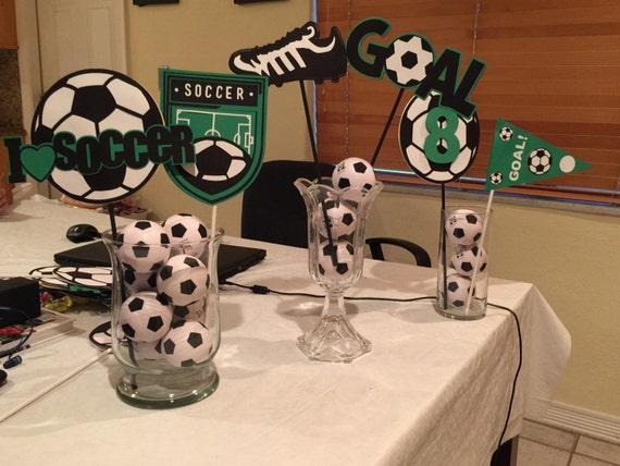 Soccer Themed Wedding Ideas: Soccer Theme Centerpieces