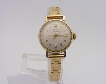 Ladies Vintage Girard Perregaux Watch 10K Gold Filled Case & 14K Gold Band