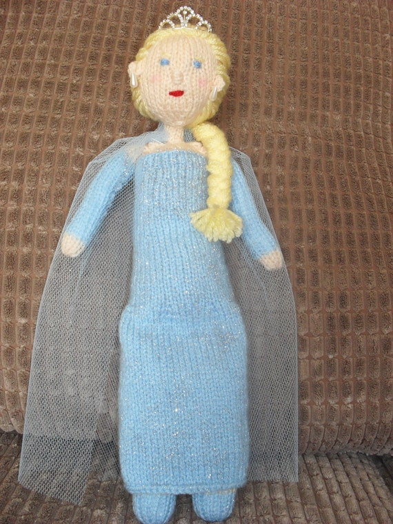 Knitting Patterns For Frozen : Snow queen from frozen knitting pattern by TOYPATTERNS on Etsy