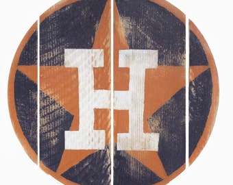 Houston Astros Reclaimed Fence Board Logo