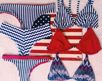 4th of July Bikini Top (Bottoms sold separately)