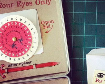 Deluxe Cryptogram Message Kit- Your Eyes Only