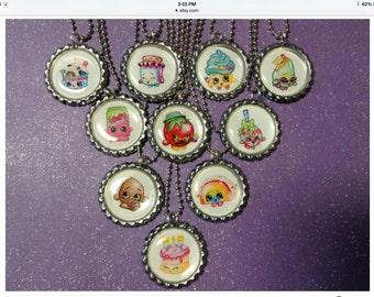 Shopkins Party favor Bottlecap necklaces 10