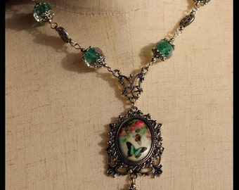 Vintage Butterfly Dance Necklace