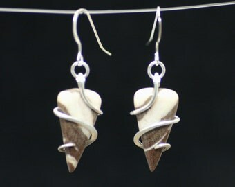 Jasper Cold Forged Sterling Silver Earrings