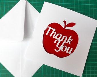 Cut Your Own 'Thank You' Teacher Papercut Card Template