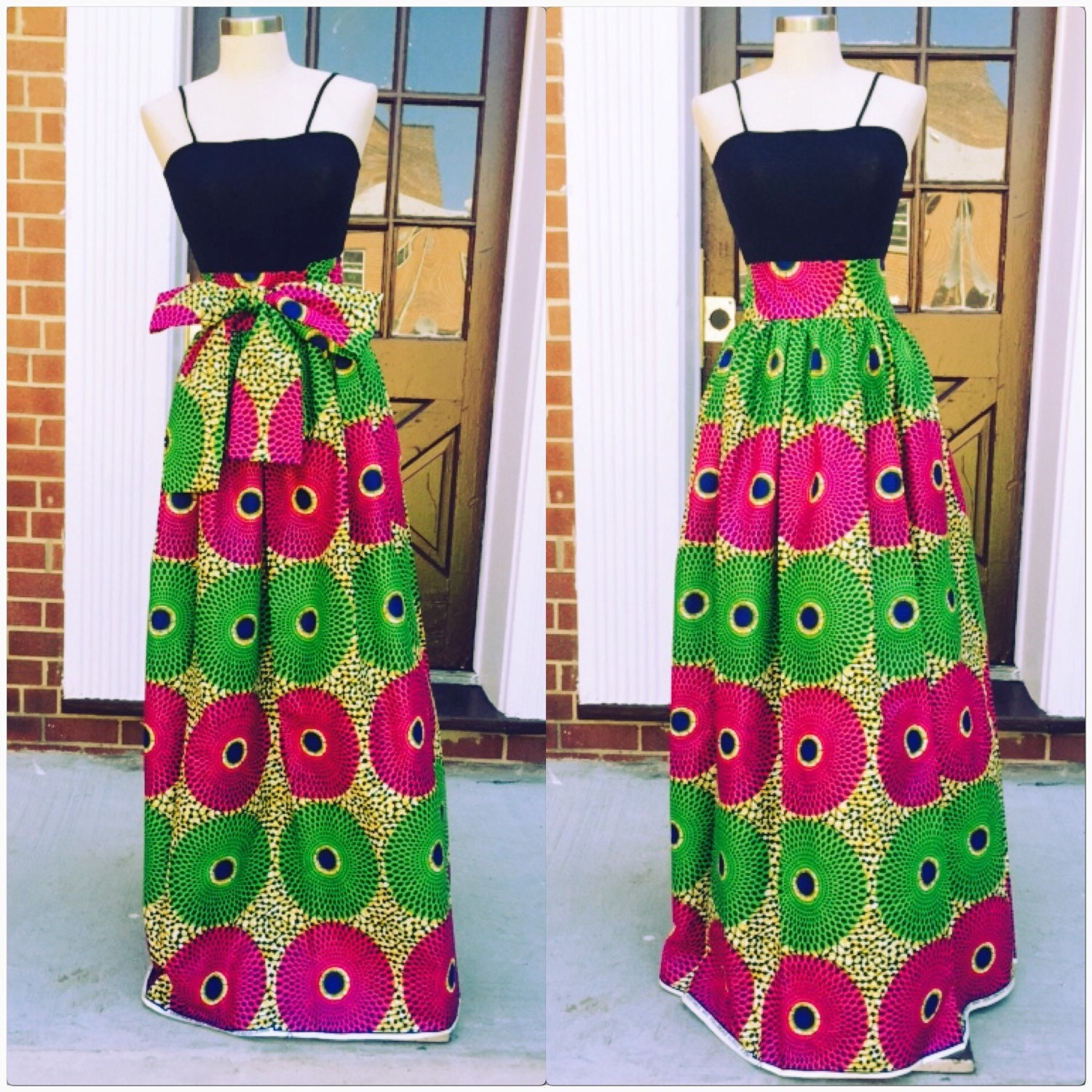 Ankara maxi skirt by Roshes on Etsy