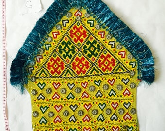 Kuchi Afghan Tribal Vintage Handmade Wall Hanging Tapestry Decor Authentic Des G