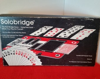 Vintage solobridge, play bridge solo, card game, bridge game