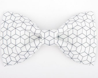 Diamond Bowtie - Modern Boys Bowtie, Toddler Bowtie Toddler Bow tie,Pre Tied and Adjustable