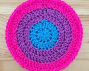 Crochet Round Coaster Set