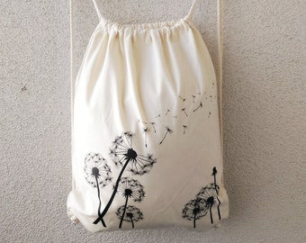 Turn bag / backpack colore naturale Pusteblume