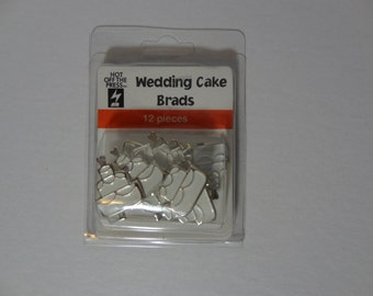 Wedding Cake Brads 12 pieces from Hot Off The Press