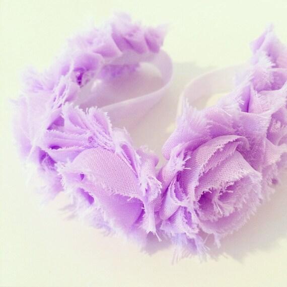 Flower Crown Purple: Items Similar To Lavender Flower Crown Headband