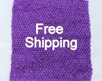 Lined Tutu Top - Ships Free - Purple Crochet Top 12 X 10 inches Lined - Purple Tutu Top Lined - Free Shipping - Waffle Crochet Top