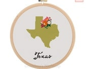 Texas Cross Stitch Pattern Modern Cross Stitch Pattern Counted Cross Stitch Pattern Texas Art Texas State Art Texas Pattern