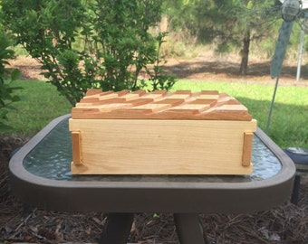 Maple and Cherry Wood Box with Lid