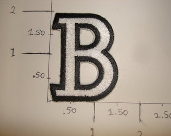 "Capital Letter ""B"" , Embroidered Patch"