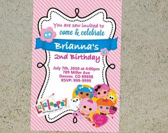 Invitación de cumpleaños de lalaloopsy Lalaloopsy invitación Lalaloopsy invitar