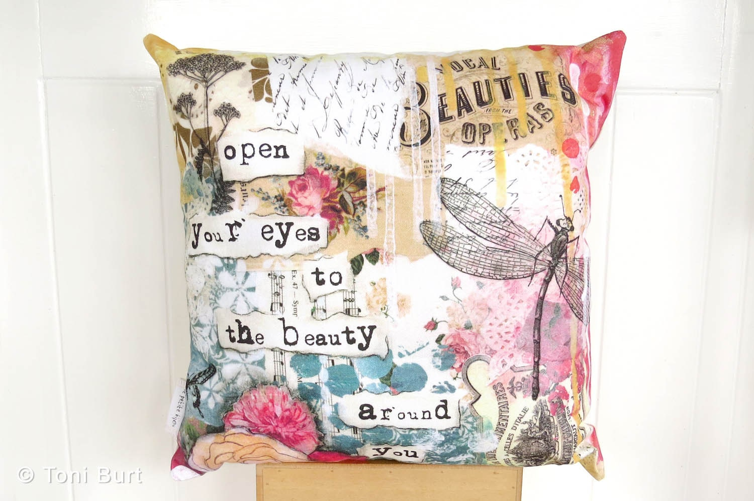 Shabby Chic Toss Pillows : dragonfly throw pillow shabby French chic accent cushion