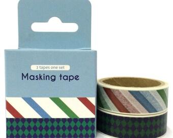 Pattern 2pc Set Washi Tape (4.9m x 2) ST901387