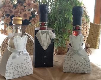 Bride & Groom Wine Favors