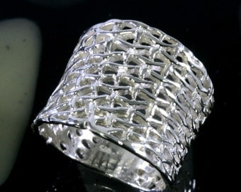 Ring, such as braided-925 Sterling Silver  - 3702