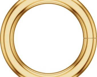 Yellow Gold Filled 5mm ID Round Jump Ring (Formerly JR7H) Sold Individually, Jewelry Making Finding