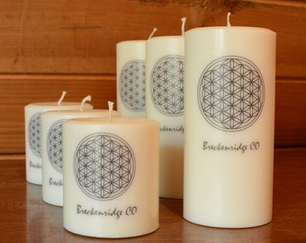 Flower Of Life Scented Palm Wax Candle, Perfect gift for any occasion!