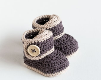 CROCHET PATTERN - Crochet Baby Booties Warm Toes - Baby Shoes - PDF