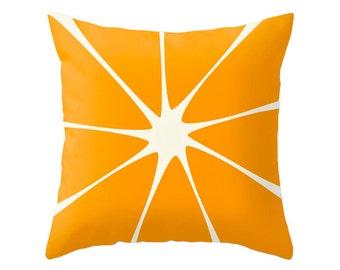 Orange throw pillow cover. Orange pillow Orange cushion Orange decor summer decor summer pillow orange decorative pillow Latte Home
