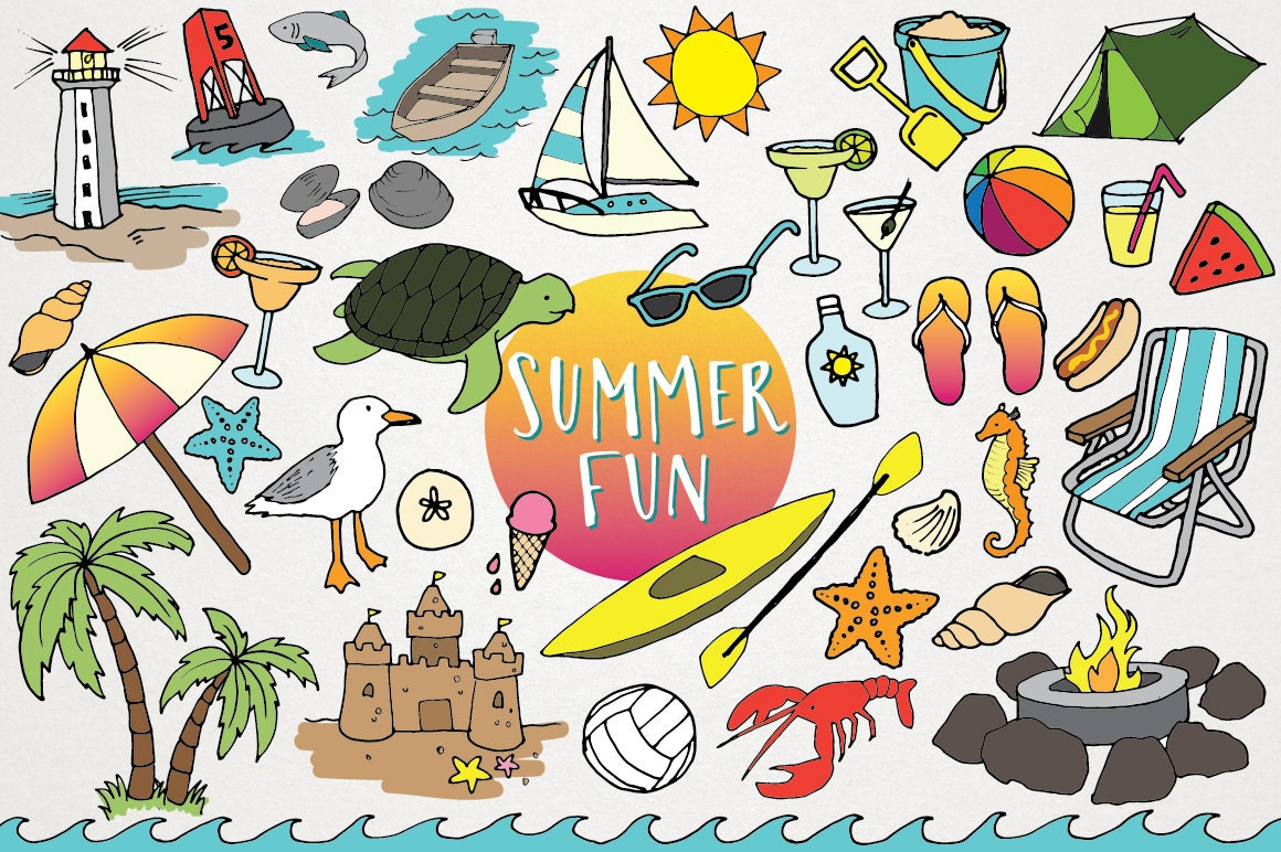 Beach Clipart Summer Fun Summer Clip art flip