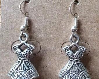 Silver tone dress earrings