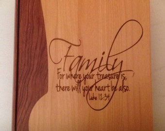 Laser Engraved Maple and Rosewood Photo Album