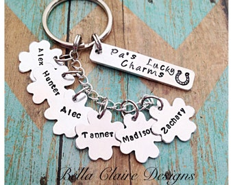 Unique gift ideas etsy daddys lucky charms keychain grandpas lucky charms keychain lucky charms keychain fathers day lucky keychain personalized negle Images