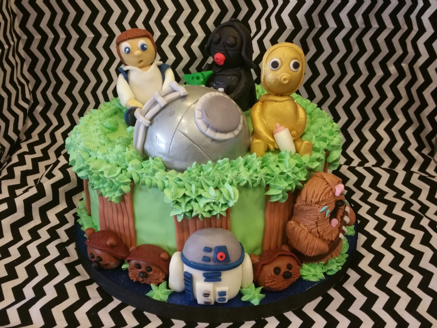 star wars baby shower fondant cake toppers by toppersbychelsi