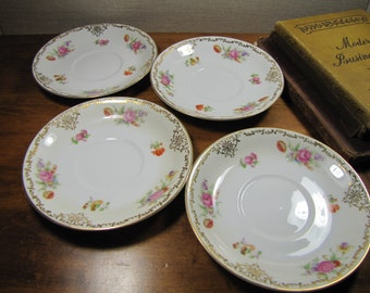 Vintge Noritake China - Made in Occupied Japan - Set of Four (4) Saucers