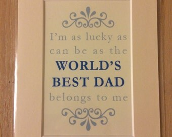 World's Best Dad A5 Print