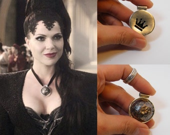 Once Upon a Time: silver & copper handmade jewelry. Inspiration Evil Queen Regina Mills's Necklace