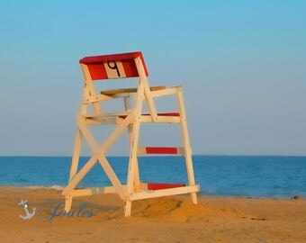 "Chair ""9"" ~ Photograph, Beach, Rhode Island, Westerly, RI, Nautical, New England, Photo, Ocean, Sunset, Misquamicut RI, Artwork, Beach House"