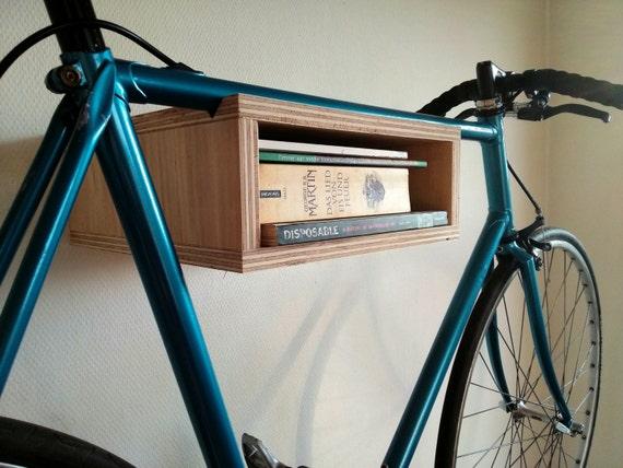 Basic Wooden Bike Rack Small Bike Storage Cabinet Wall