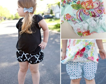 Tout de Suite Bloomer Shorts size 1-14 for knit or woven with three leg options and pockets