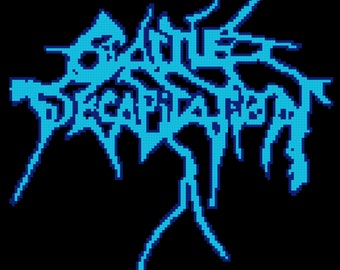 Cattle Decapitation Metal Band Logo Cross Stitch Pattern