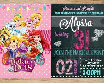 Palace Pets Birthday Invitation Chalkboard - Palace Pets Invitation - Pa;ace Pets Invite - DIGITAL