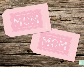 Printable Mother's Day Gift Tags: Instant Download