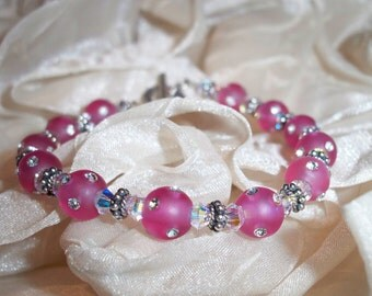 Pink Ice Swarovski Crystal Bracelet