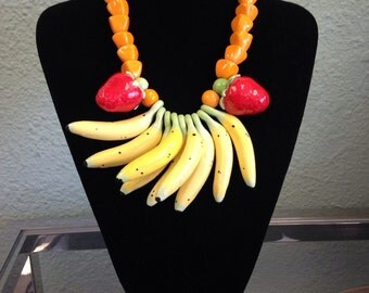 Vintage fruit necklace