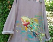 Funky Fish Artist Sweatshirt  Made To Order